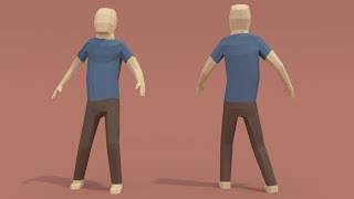 | PigArt | BLENDER Timelapse: Low poly human character