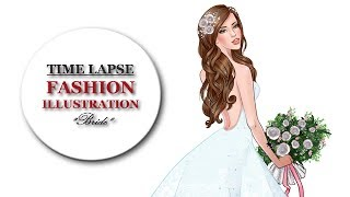 Bride Fashion Illustration - Speedpainting in Clip Studio Paint