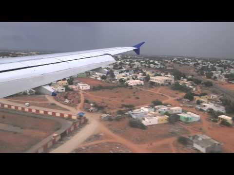 Flight Landing At Coimbatore Airport