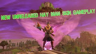 Taking The L With The New Unreleased Hay Man Skin (Fortnite Battle Royale)
