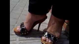 Sexy mules tacones sandalias al sol - Wooden Mules