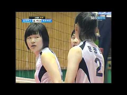 Park Jeong-Ah in Korean High School Volleyball Cha...
