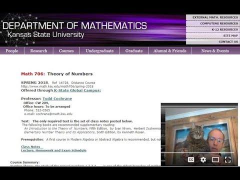 Elliptic Curves,  Math 706, Section 10.1