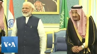 Indian PM Modi Meets Saudi King, Crown Prince