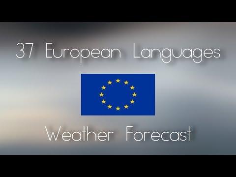 37 European Languages - Weather Forecast