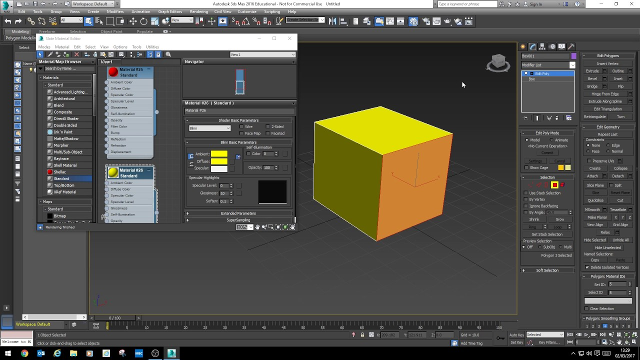 3ds Max - Setting Material ID's