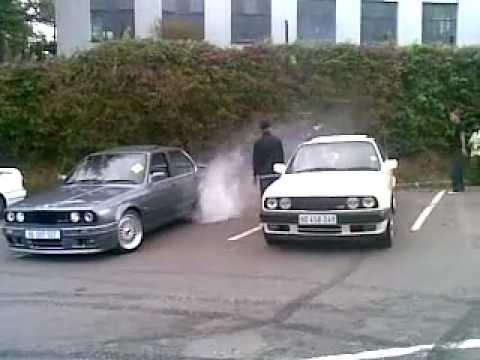 BMW E30 Burnouts