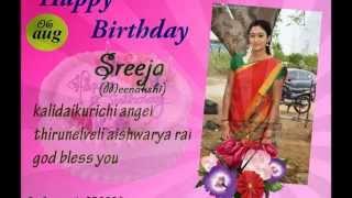 Happy Birthday Sreeja Senthil {meenakshi] edit by ;- L.Mithu