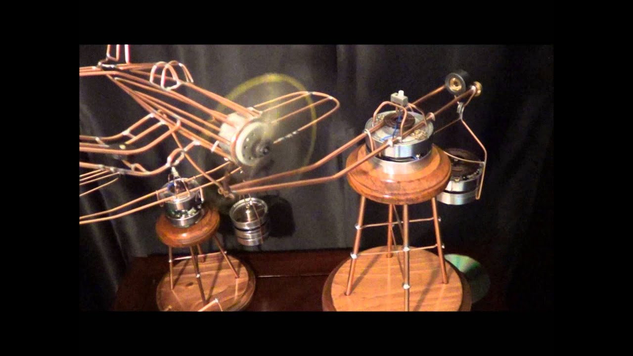 Kinetic Wire Sculpture Airplane