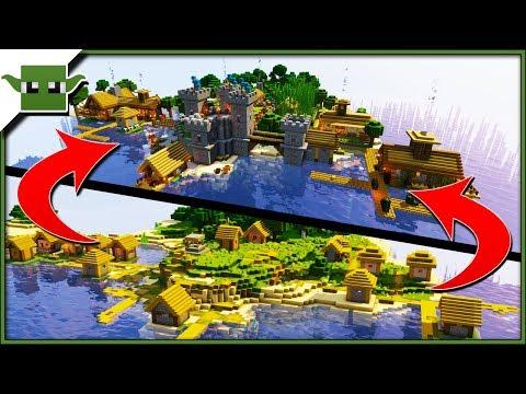 minecraft-1.14-island-village-transformation