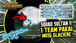 GILA !!! 1 SQUAD SULTAN ?! SEMUA PAKE M-416 GLACIERE !! - PUBG MOBILE INDONESIA