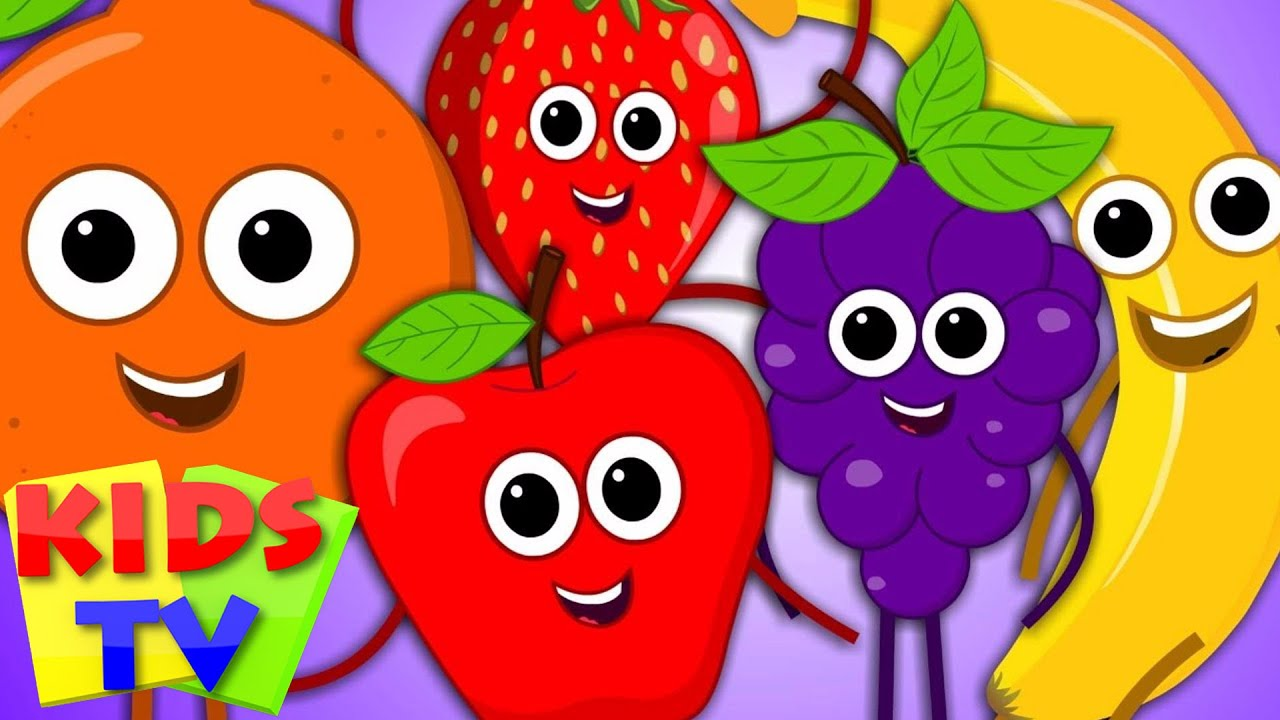 five little fruits fruits song learn fruits 5 little fruits