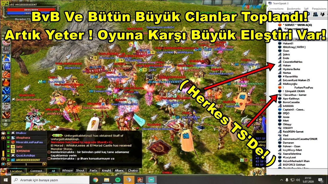 BvB Clanı Ve Oyundaki Bütün Büyük Clanlar Toplandı | Oyuna Karşı Büyük Eleştiri! | Knight Online