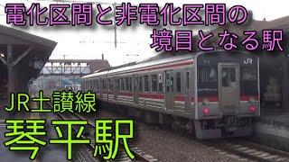 JR土讃線 特急南風 琴平駅