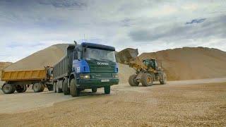 Loading Gravel In Quarry Pack  Stock Video