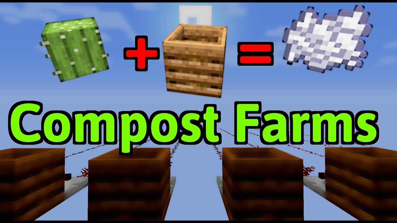 Simple Bonemeal Farm Composter Facts Minecraft Youtube