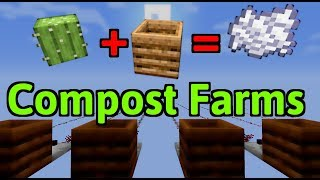 Simple Bonemeal Farm + Composter Facts! | Minecraft