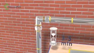 Монтаж трубной теплоизоляции Thermaflex. Изгиб трубопровода 90 градусов с фитингами