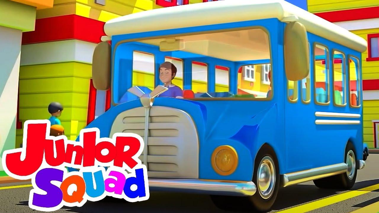 Roda di bus | Video edukasi anak | Lagu anak anak | Junior Squad Indonesia | Bayi sajak