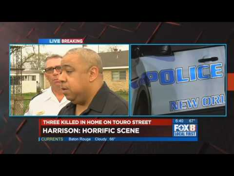 New Orleans police chief discusses Gentilly triple homicide