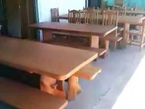 Mesa 3 metros com 10 cadeiras rustica 62 85701915 62 for Mesas para bar rusticas