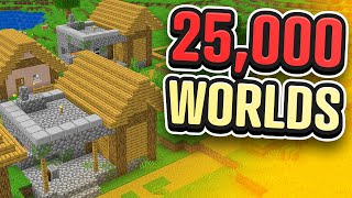 What 25,000 Minecraft Speedrun Worlds Look Like