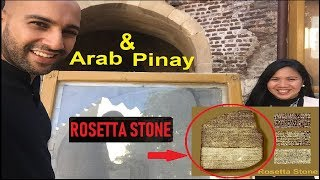 My Filipino Wifey First time to See Rosetta Stone!