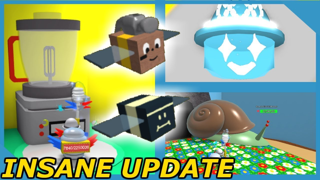 Huge Update New Bees New Hats Insane Snail Boss Roblox Bee Swarm Simulator - roblox bee swarm simulator translator videos