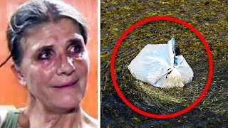 woman-sees-man-throw-trash-in-river-then-sees-a-leg-hanging-out-and-realization-sets-in
