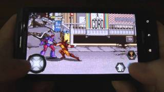 X-Men Arcade beat 'em up game for Android (reviewed on Droid X2)