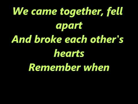 Remember When- Alan Jackson [Lyrics]