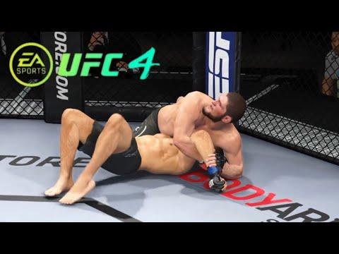 Khabib Nurmagomedov Vs Nate Diaz Full Fight   UFC4