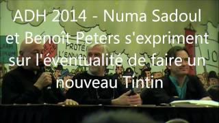 """A.G. des Amis De Hergé 2014: Benoît Peeters et Numa Sadoul. """"Un nouveau Tintin?"""""""