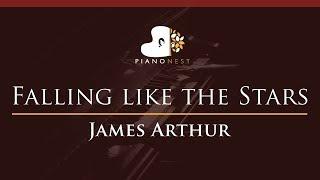 James Arthur - Falling like the Stars - HIGHER Key (Piano Karaoke / Sing Along) Video