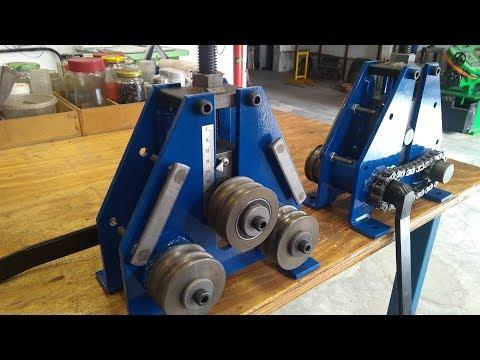 Calandra para Espirais, Serpentinas e Estribos Redondos - Roller Bender Machine Welding