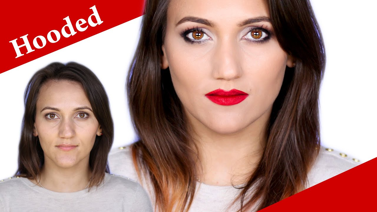 Hooded Deep Set Hazel Eyes Makeup Tutorial For A Night Out You