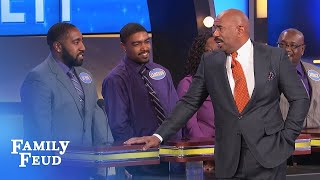 Things get HAIRY with Steve and De Von | Family Feud