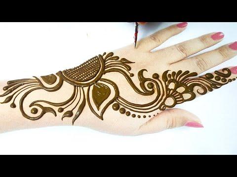 आसान मोर की मेहँदी डिज़ाइन लगाना सीखे - Stylish Mehndi Design for Your Hands | Easy Mehandi
