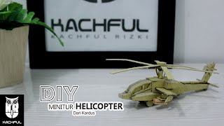 Miniatur Helicopter Dari Kertas Kardus - UNIK
