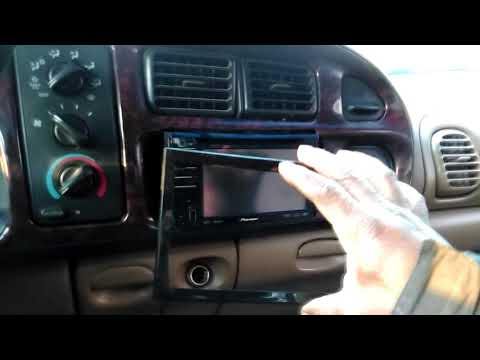 HOW TO INSTALL DOUBLE DIN 98 RAM 1500!!