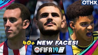 FIFA 19 | ALL 40+ Stunning NEW Player Faces ft. Icardi, Godin, Rugani| @Onnethox
