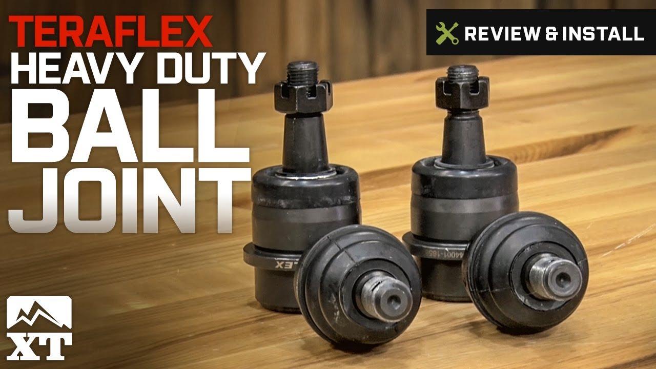 Jeep Wrangler Teraflex Heavy Duty Ball Joint Set of 4 (2007-2012 JK) Review  & Install