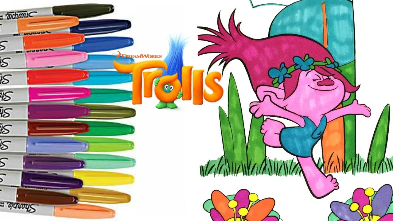Dreamworks Trolls Movie POPPY Coloring