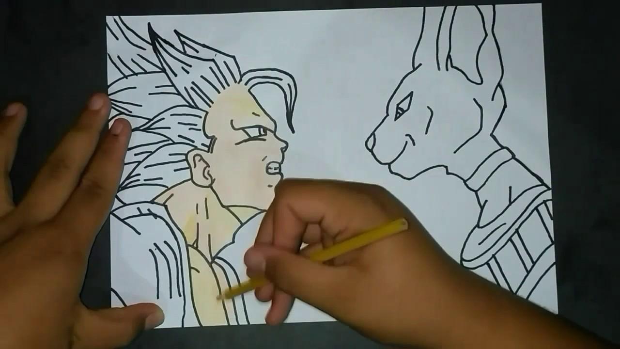 Desenhando Goku Vs Bills Dragonball Z Speed Drawing Youtube
