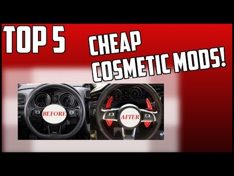 TOP 5 CHEAP Cosmetic Mods for Your CAR! | Automotive Discussion