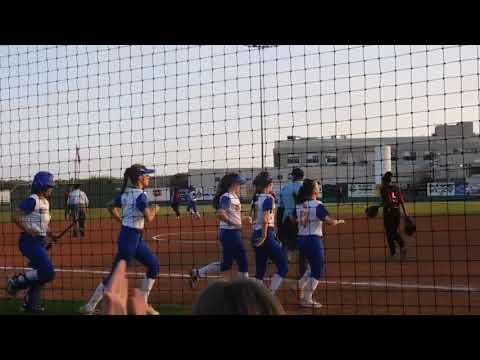 Karsyn Iltis home run #2 3/27/2019 - North Lamar High School