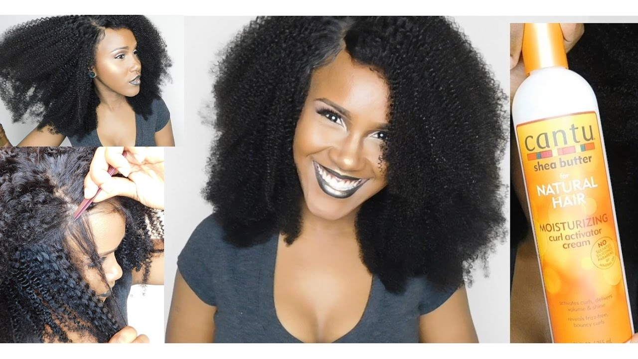 Detailed Afro Kinky Curly Bundles With Closure Installation