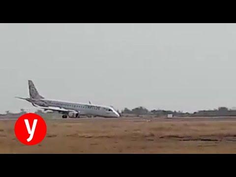 טייס נחת בלי גלגל קדמי והציל 98 נוסעים