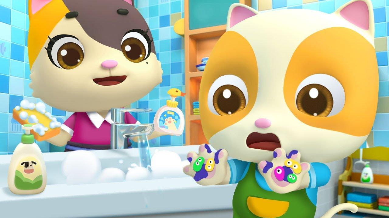 てをあらってない子はだれかな  | よい生活習慣 | 赤ちゃんが喜ぶ歌 | 子供の歌 | 童謡 | アニメ | 動画 | ベビーバス| BabyBus