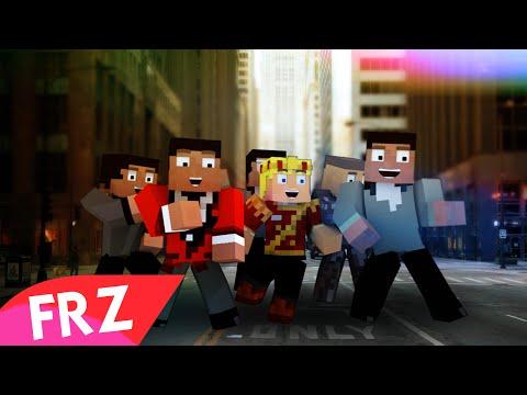 "♫""MINECRAFT FUNK"" A Minecraft Parody Song Of Bruno Mars Uptown Funk (Lyric Music Video)"